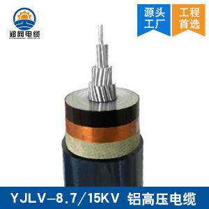YJLV-8.7/15KV铝高压电缆